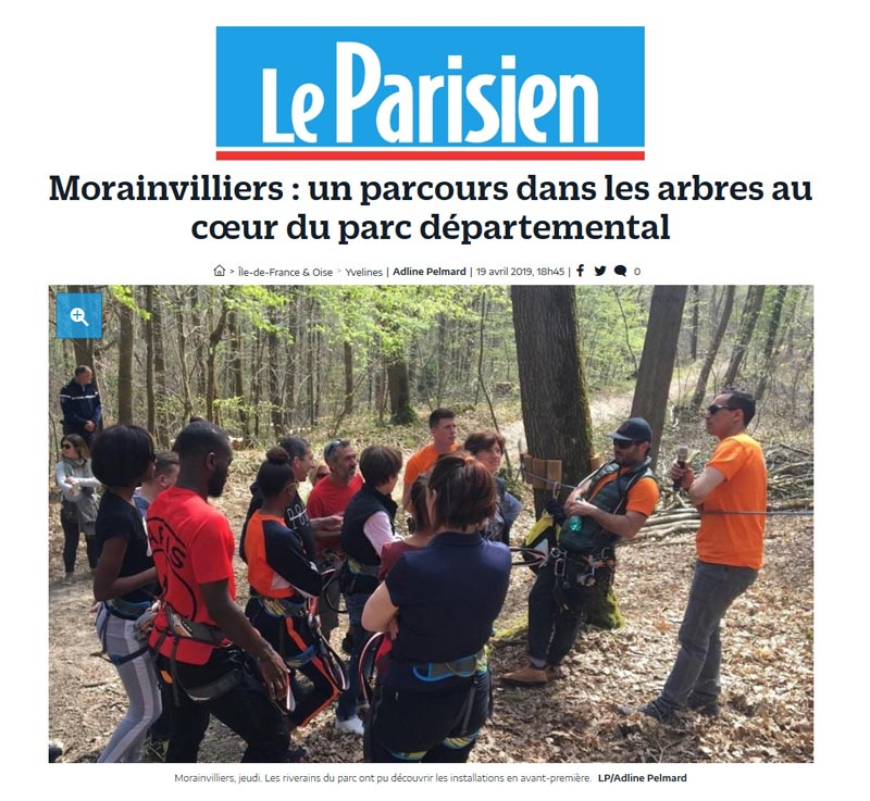 parcours foret accrobranche yvelines morainvilliers aventure indian forest